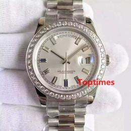 Assista mulher de aço resistente à água on-line-Aço Inoxidável dos homens de Diamantes Mens Luxo genebra Watch Strap 2183 Relógios de moda Reloj À Prova D Água Relog ...