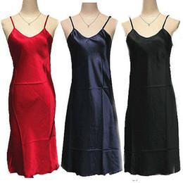 Wholesale Plus Silk Chemise - Wholesale-Sexy Satin Nightie Nightdress Chemise Slip - Sleepwear Nightwear Plus Size S-XXL