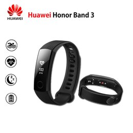 Wholesale Spanish Bands - Wholesale- New Original Huawei Honor Band 3 Smart Wristband Swimmable 5ATM OLED Screen Touchpad Continual Heart Rate Monitor Push Message