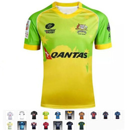 Wholesale Purple Cowboy Wine - 17 kinds Rugby shirts Iron Australia Cricket top quality breathable Cowboys South Africa Rugby Jersey T-shirts Jersey S-3XL