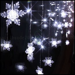 Wholesale Led Snowflake Lights Blue White - Multi 3.5M 100SMD Snowflake LED String Curtain Lights Holiday Xmas Wedding Decor LLWA220