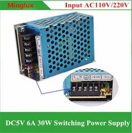 Wholesale 5v 6a - Aluminum Case DC5V 6A Switching Power Supply 110V 120V 220V 240V AC to DC 5V 30W Transformer for LED Lights and Industry Equipments