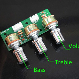 Wholesale Diy Amplifier Channel - Freeshipping Tone Bass Treble Volume Control Board 3-Channel Subwoofer 2.1 Amplifier DIY Kits free shipping