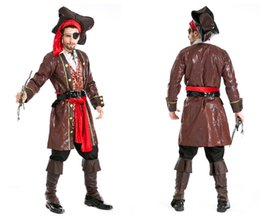 Wholesale Sexy Cheap Cosplay Costumes - Wholesale-Rogue Pirate Costume Free shipping Adult Men's Pirate Costumes cheap Adult Men's Halloween Costumes sexy cosplay