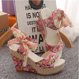 Wholesale Net Wedge - summer woman sandal for women wedges platform sandals high-heels shoes net fabric lace belt