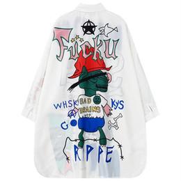 Wholesale Long Style Blouse Patterns - Sexy Womens Fashion Loose Blouse Fashion Long Sleeve Shirt Top Pattern Printed Casual Boyfriend Style Blouse