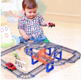 Wholesale Model Cars Building Kits - Parent-children Interaction 73PCS set Thomas Tracking Building Kits Toy for Kids Race Track Model & Electric Speed Car