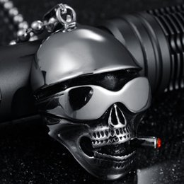 Wholesale Stainless Chain Prices - Factory Direct Never Fade 316L Stainless Steel Necklace Skull Skeleton Men Pendant Chain Necklace Wholesale Price