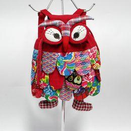 Wholesale Wholesale Cotton Fabric Manufacturers - Kids Backpack Owl Package Manufacturers Wholesale Kindergarten Handbags Shoulder Bag Student Bag Mini Cartoon Cotton Children Bag