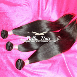 Wholesale Cheap Unprocessed Malaysian Hair - Unprocessed Virgin Human Hair Wefts Brazilian Indian Malaysian Peruvian Hair Extensions Weft Natural Color Straight Hair Weave Cheap 3PCS 7A