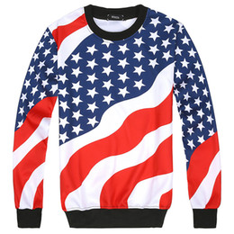 Wholesale American Flag Pullover - 2017 American FLag 3D printed Men's Hoodies fashion mens and women hoodie autumn winter hip hop sportwear Hoodies or Joggers