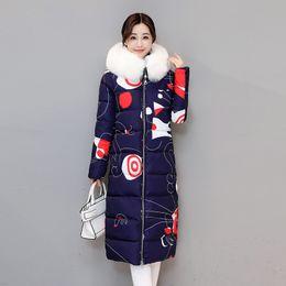 Wholesale Women Hooded Fur Coat Xxl - White Fur Down Parkas Ladies Winter Coat Long Jackets Hooded Warm Thickening Outwear Tops Women Plus Size Clothing New Arrival XXL