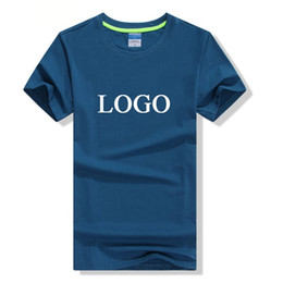 Wholesale Print Ink Wholesale - 10pcs CUSTOM SCREEN PRINTED MENS COTTON SHORT SLEEVE T SHIRTS PRINT ONE COLOR INK 100% COTTON TEE FREE SHIPPING HFCMT007