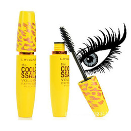 Wholesale Eyelash Extensions Mix - New Magic Big Eyes Black Mascara Waterproof Eye Lashes Yellow Pipe Extension Length Long Curling Eyelash Makeup Cosmetic Tool +B