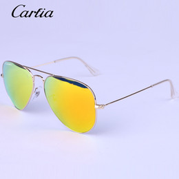 Wholesale Designer Frames For Sale - Carfia brand designer Hot Sale Mirror Sunglasses Summer Sunglasses for Men Women UV Protect Sunglasses 58mm  62mm Original Leather Box
