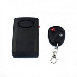 Wholesale Home Theft Alarm - Free Shipping Vibration Activated 120dB Anti-theft Security Alarm with Remote Control Keychain for Home Security Motorcycle