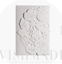Wholesale Laser Cut Wedding Invitations Cheap - Cheap !!White sweet elegant laser cut wedding invitations cards hollow personalized Engagement invitation card with envelope