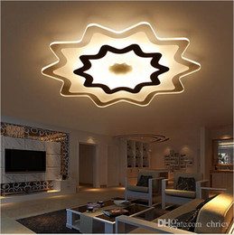 Canada Dimmable Modern Acrylic Led Ceiling Lights For Living Room Bedroom Kids Surface Mounted