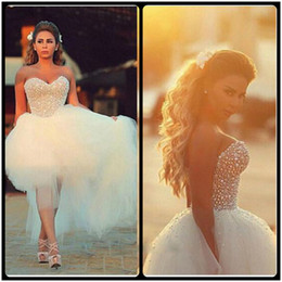 Wholesale Princess Ball Gown Bridal Dresses - 2017 New Style Ball Gown Wedding Dresses Pearls Tulle Bridal Gowns Homecoming Dress vestidos de novia