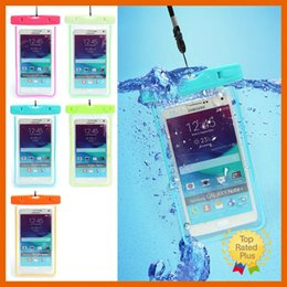 Wholesale Waterproof Pouch Dry Bag Clear - Waterproof Cellphone Bag Universal Waterproof Cases Dry Bag for iphone 7 Plus 6s LG K5 K7 G5 Samsung Note7 J7 J5 Grand Prime