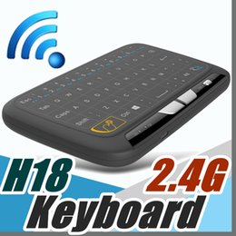Wholesale Air F - 2017 Factory H18 Mini Wireless Keyboard 2.4 G Portable Keyboard With Full Touchpad Air Mouse for Windows Android Smart TV  PAD F-JP