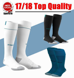 Wholesale Wholesale Boys Socks - 2017 2018 Men Socks Real madrid soccer Sports Socks Adult boy RONALDO white Black JAMES BALE RAMOS ISCO MODRIC football Socks