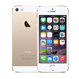 Wholesale Iphone 5s Black Unlocked - refurbished Original Apple iPhone 5S Dual core 16GB 4.0 inch 640x1136 IPS screen IOS 3G WCDMA 8MP fingerprint unlocked phone