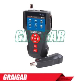 Wholesale Cable Multi Rj45 - Noyafa New Multi-functional Cable Length Tester NF-8601A Network LCD Lan tester Check faults for RJ11 RJ45 BNC Cable