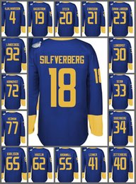 Wholesale Flashing Cups - 2016 World Cup Ice Hockey Sweden Jerseys WCH 19 Backstrom 34 Carl Soderberg 92 Gabriel Landeskog 65 Erik Karlsson 20 Steen 30 Lundqvist