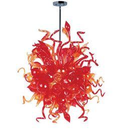 Fabricantes de arañas online-Venta al por mayor de cristal de Murano CA 110-240V profesional China de fábrica del fabricante de vidrio flor luces pendientes del estilo de la lámpara