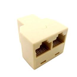 dc jack de alimentação por atacado Desconto Atacado-RJ45 Divisor Conector CAT5 LAN Ethernet Splitter Adaptador de Rede 8P8C Dual