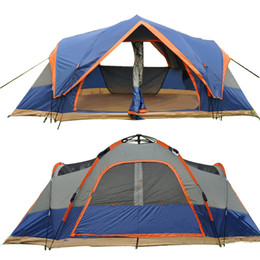 Wholesale Above Door - 4 Season Outdoor Automatic Tent Camping 5-6 Person Double Layer Large Family Tent Waterproof Beach Instant Camping Tents