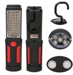 Wholesale Mobile Phone Torch Light - 2016 New Arrival Super Bright USB Charging 36+5 LED Flashlight Work Light Torch Magnetic+HOOK Mobile Power Bank For Your Phone Outdoor