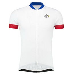 Wholesale Tour France Cycling Tops - New Arrival !! 2016 tour DE France Cycling Jersey Bike Bicycle Clothing Outdoor Sportswear Jacket Bike Wear White Size XS-4XL
