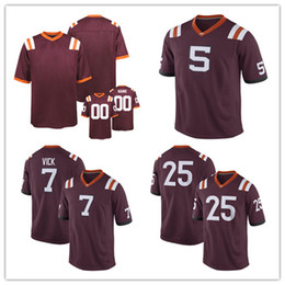 Wholesale Xl Tech - Mens Virginia Tech Hokies College Custom #5 7 11 16 17 25 55 99 Red Stitched Personalized Any Name Any Number Jerseys S-3XL