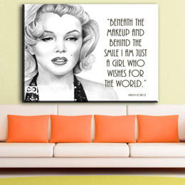 Wholesale Traditional Sexy Painting - ZZ1154 Modern Home Decoration wall art picture poster sexy Marilyn Monroe canvas Print oil painting on canvas art
