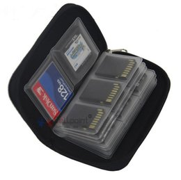 Wholesale Memory Card Case Pouch - Multi Colors 22 SD HC MMC CF Micro SD Memory Card Storage Carrying Pouch Case Holder Black Purple Grey Orange
