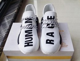 Wholesale Cheap White Canvas Flats - Cheap NMD HUMAN RACE Williams Pharrell x NMD HumanRace People Racing Shoes HumanRace White Yellow Black NMD Shoe running shoes EUR 36-44