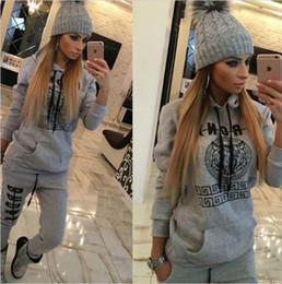 Wholesale Football Clothing Sale - Hot Sale Spring Autumn Long Sleeve Hoodies Casual Tracksuits Cotton Printed Letter Two Pieces Sweatshirt Pants Suits Sporting Clothing