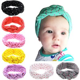 Wholesale Style Hair For Girl - 2016 New Dot Headbands for girls Multi color Baby Boutique Hair Bows Chinese Knotted Kids Hair Bands Hair Accessories 8 Styles 20pcs 041