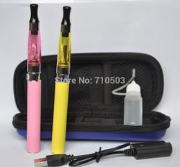 Wholesale Ego Kit Ce4 Atomizer 2pcs - 5 pcs lot CE4 Electronic Cigarette Starter Kits 2pcs eGo-T Battery 1100mah and CE4 e-cigarette Atomizer