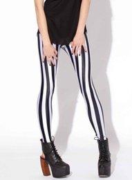 Wholesale Size Xs Galaxy Leggings - Wholesale-Drop ship S-4XL 2016 Women Black and white stripes Leggings MIlk Leggings Galaxy leggings Plus Size girl Leggings