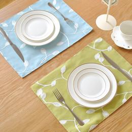 almofadas de vinil Desconto BZ803 tapetes de mesa tapetes de mesa almofadas mat tapete de pano vento rural coreano almofada de disco duplo guardanapo de mesa placemat