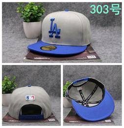 Wholesale Snap Back Cap Sports Logo - High Quality Snapback Baseball Hats Cap LA logo Hiphop Cap Sport Fit Hats For Man & Woman Snap Back Causal Caps