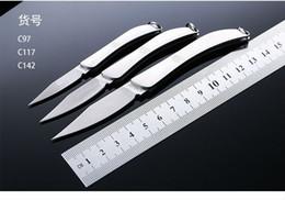 Wholesale Key Ring Pieces - Sanrenmu SRM C117 Mini Pocket EDC Folding Knife Knife Stainless Steel Handle w  Key Ring