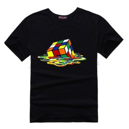 Wholesale Cube Clothe - T shirt homme Big Bang Theory Sheldon Tee 2016 Casual Men T Shirt Cotton Cube 3d Printed t Shirt Brand clothing Men tops