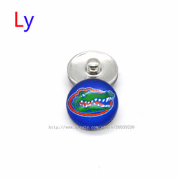 Wholesale European Charm Rings - Noosa chunks Pendant Bracelet 18mm Snap button buttoned Florida NACC University sports interchangeable jewelry for Sports fans NE0011