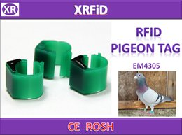 EM4305 rfid piccione tag dia 10mm 134.2 kkhz piccione tag formato vuoto 500 pz / lotto nave libera da