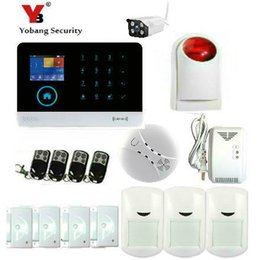Wholesale outdoor siren gsm - Wholesale- YobangSecurity Wireless WiFI Home Alarm System Android IOS APP GSM GPRS Alarm System with Wireless Siren Outdoor WIFI IP Camera