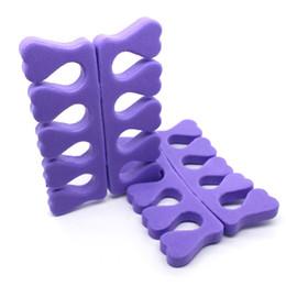 New Soft Schiuma Sponge Toe Separator Finger Separator Strumenti Nail Art Piedi Cura Manicure Strumenti Pedicure spedizione gratuita T01 da separatori del chiodo delle dita fornitori